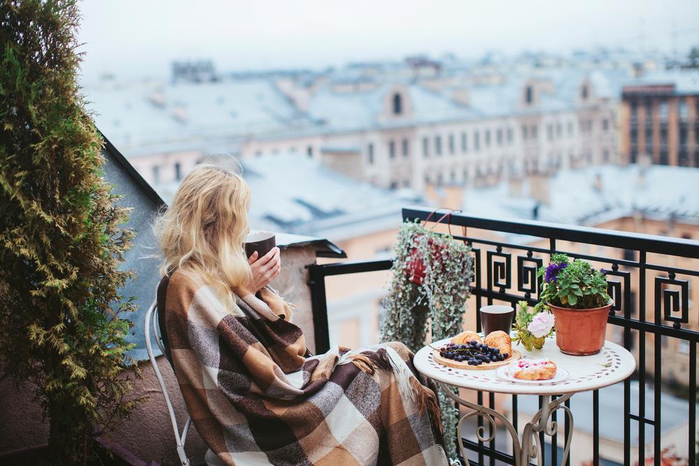 Кафе осенью в Санкт-Петербурге